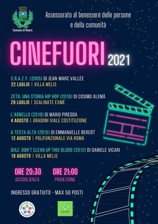 Seconda edizione della rassegna cinematografica 'Cinefuori' - Dal 22 luglio al 19 agosto